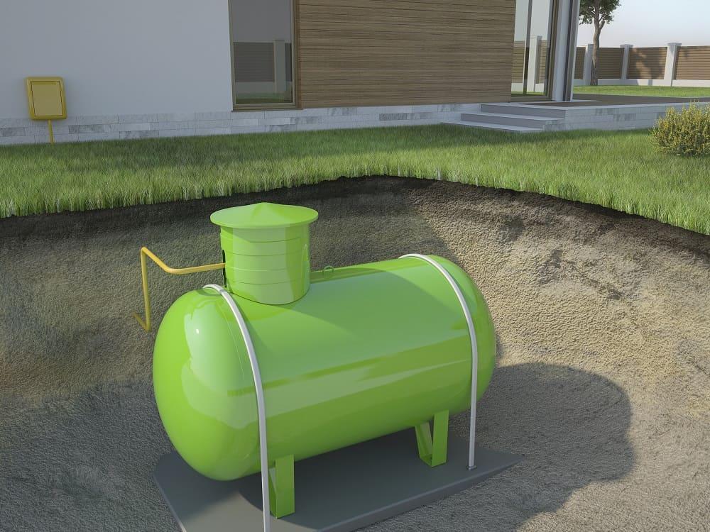 zbiornik na gaz pod ziemią